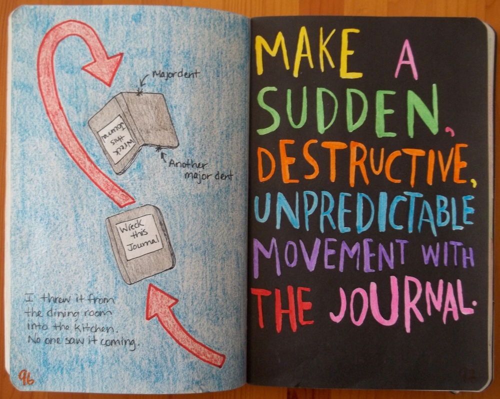 Wreck This Journal: Be Unpredictable