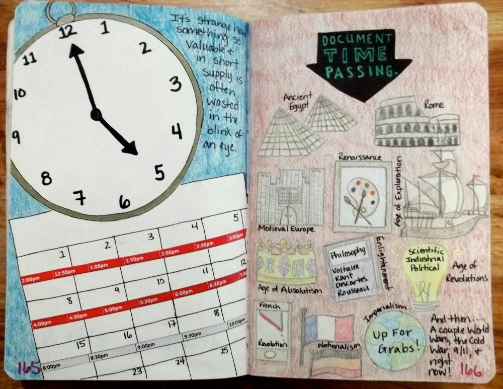 Wreck This Journal: Time Flies