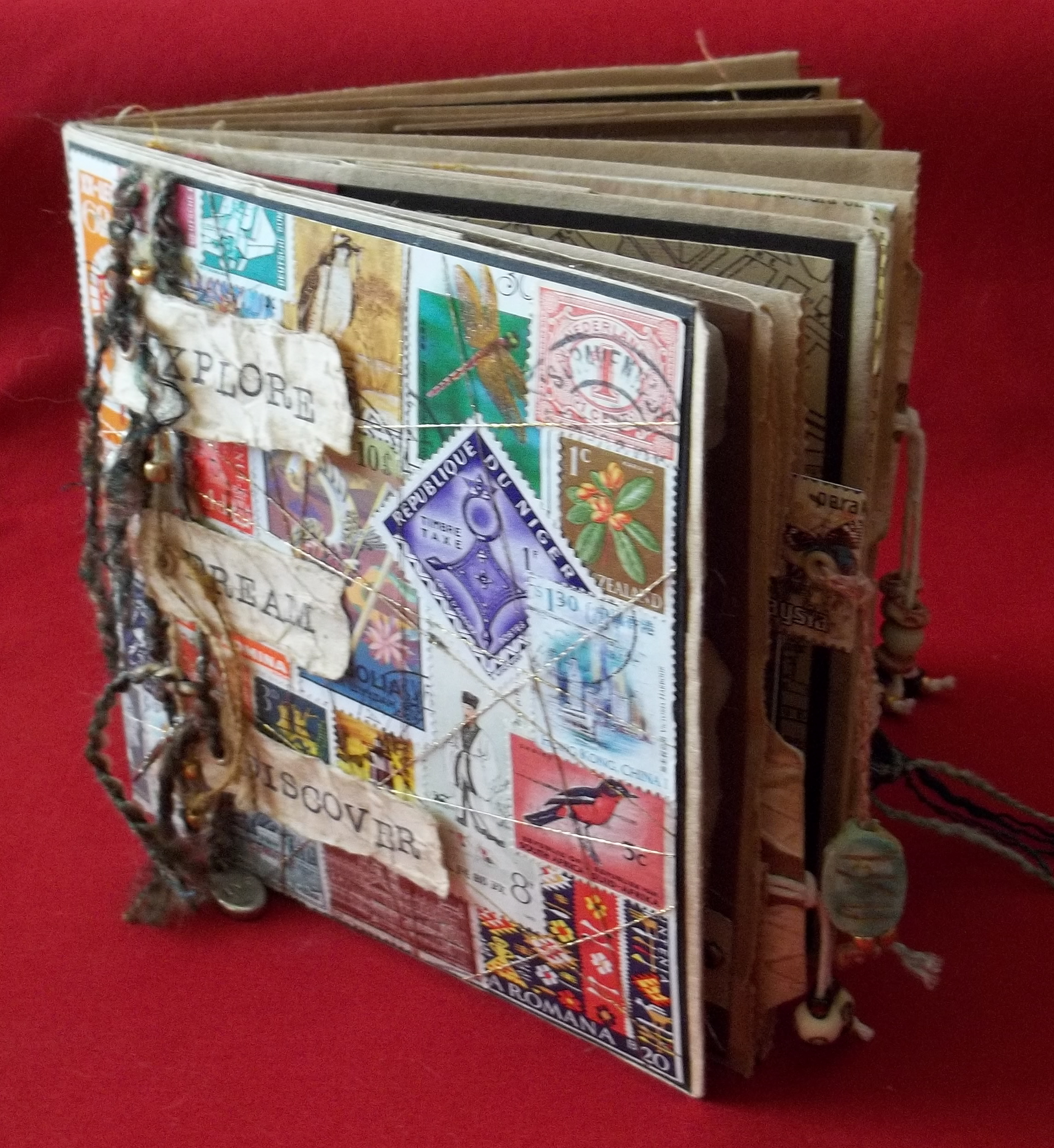 Paper Bag Book Cover Tutorial ~ Project art journal c b wentworth