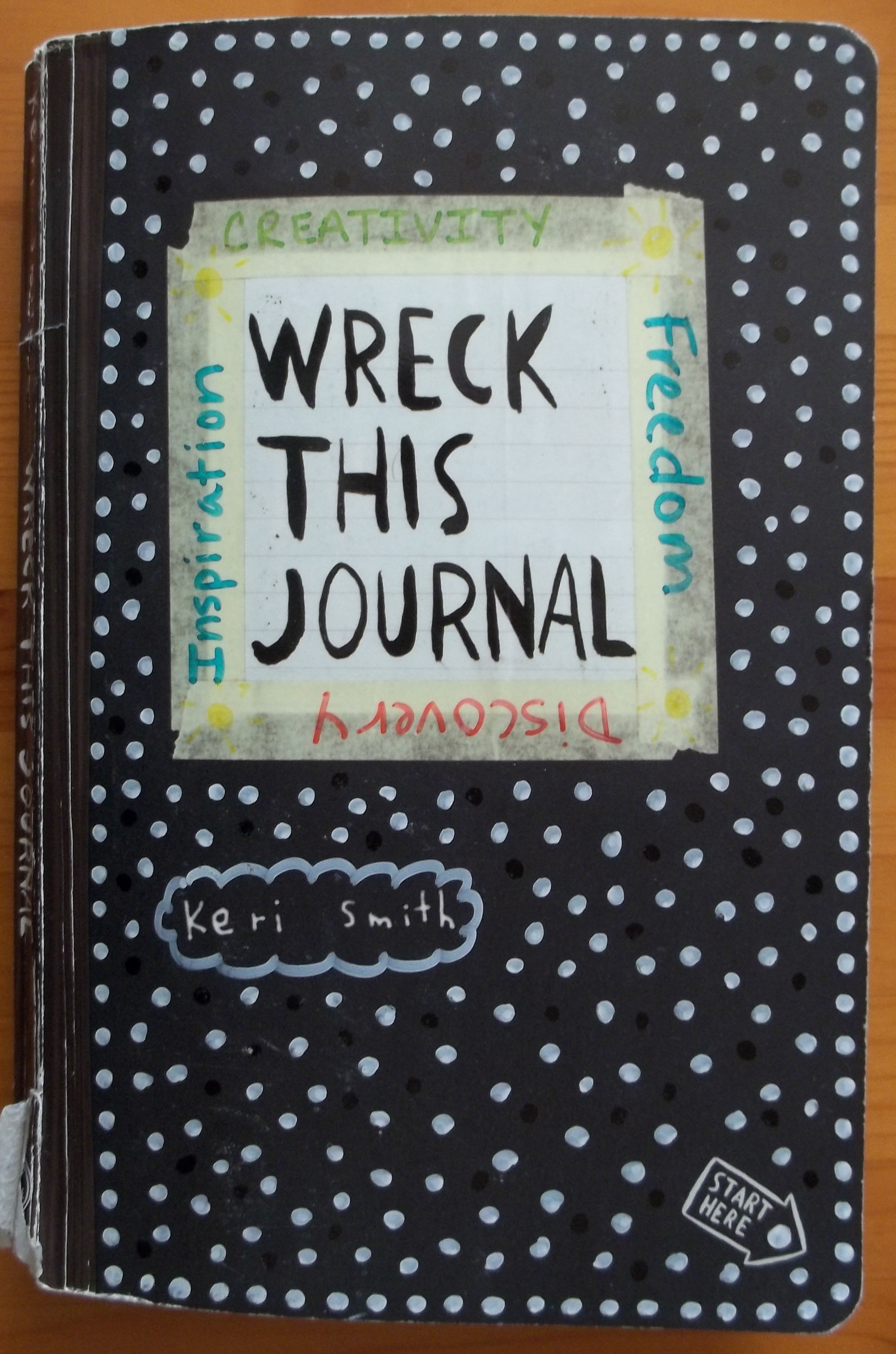 Wreck This Journal Book Cover Ideas ~ Wreck this journal keep trying c b wentworth