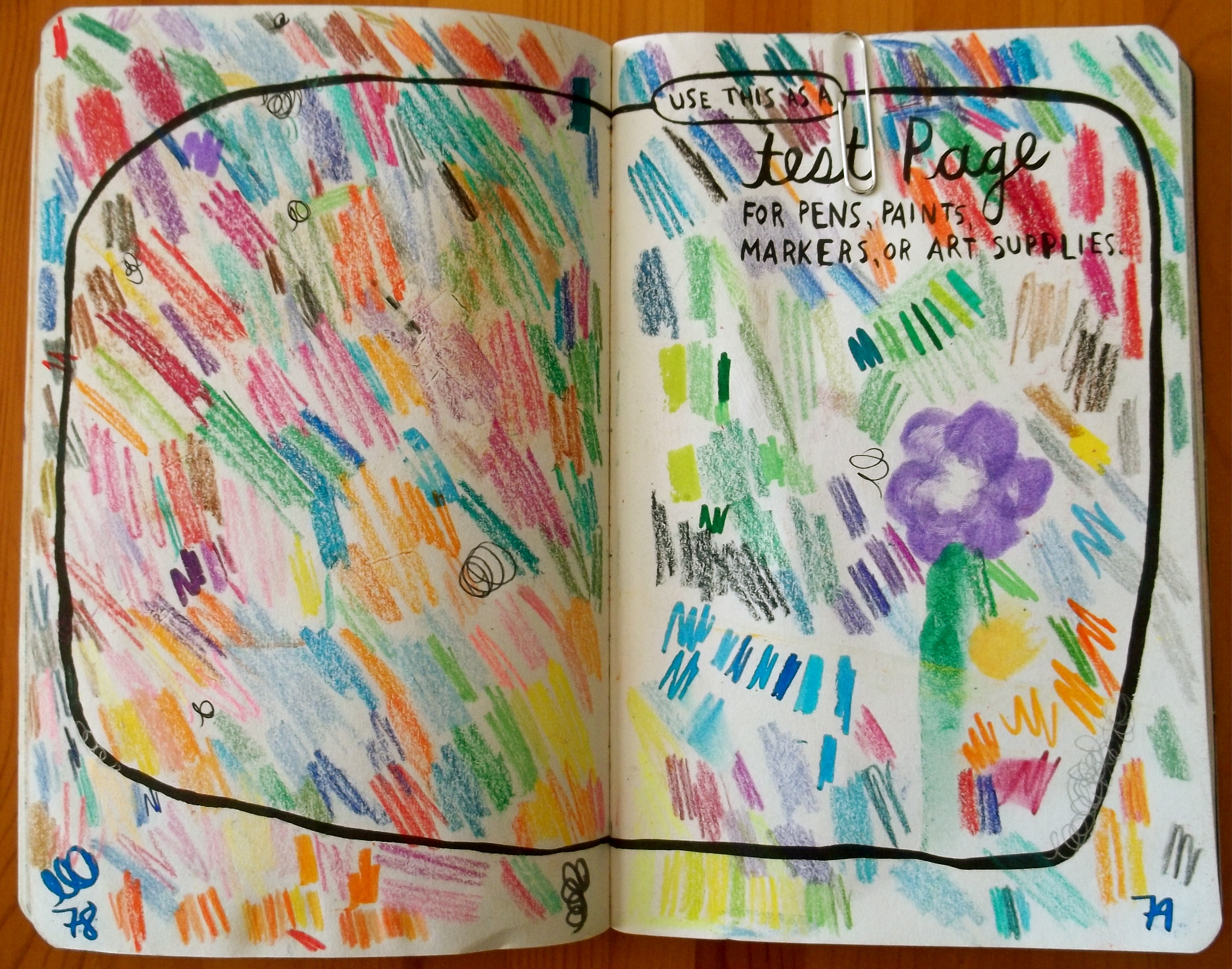 Wreck This Journal Ideas Color Entire Page Viewing
