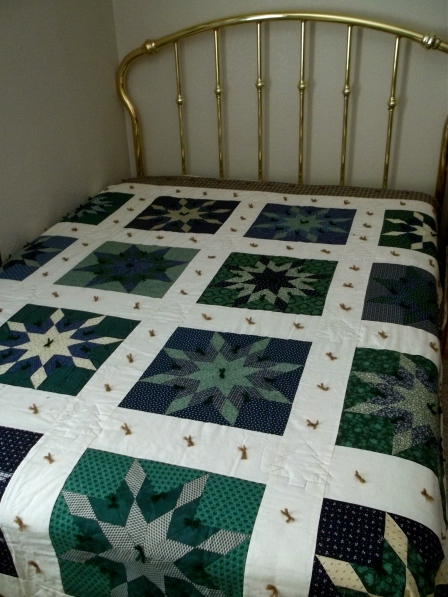 The last quilt I worked on with my Grandma.
