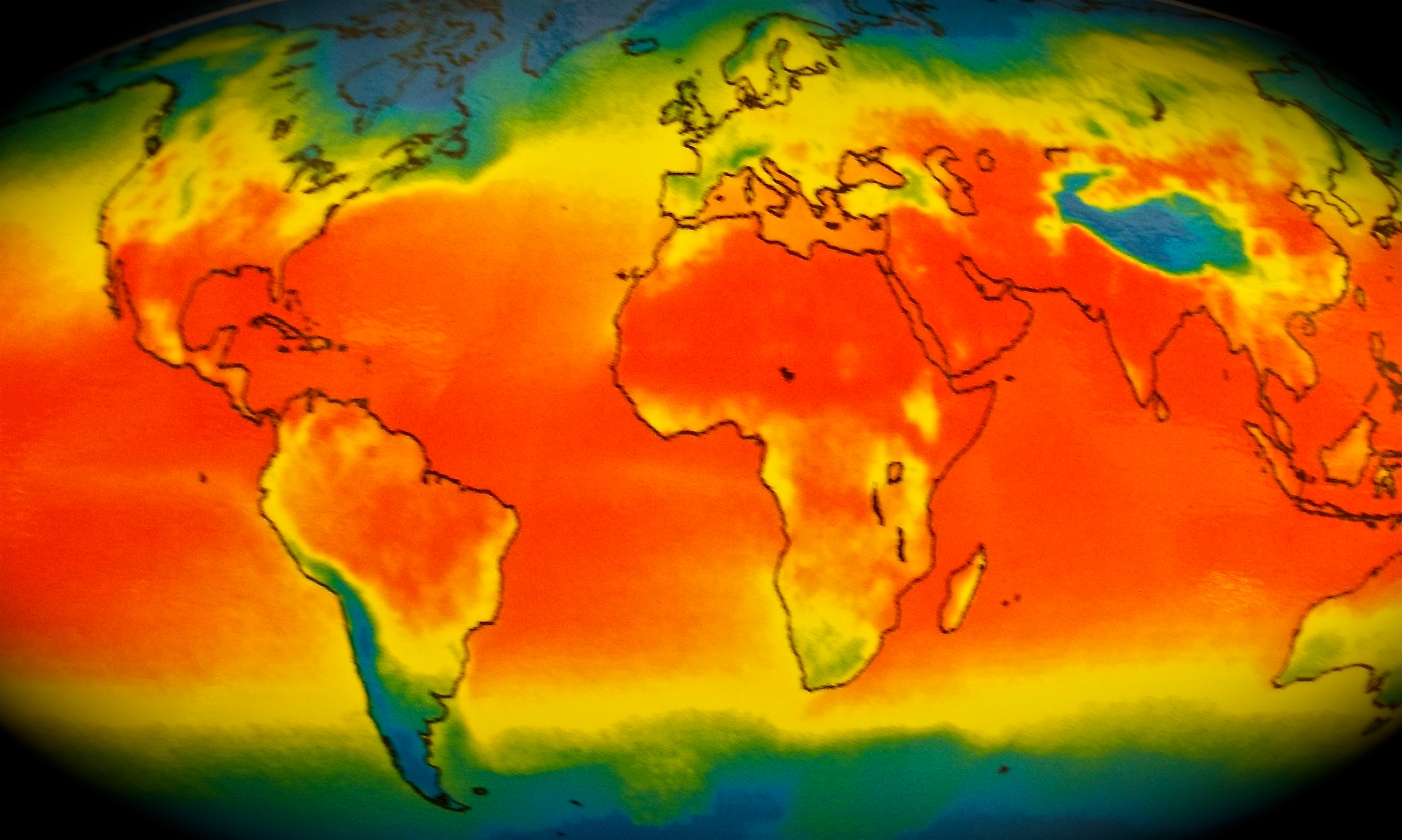Thermal Map Of The World.October 26 2012 C B Wentworth