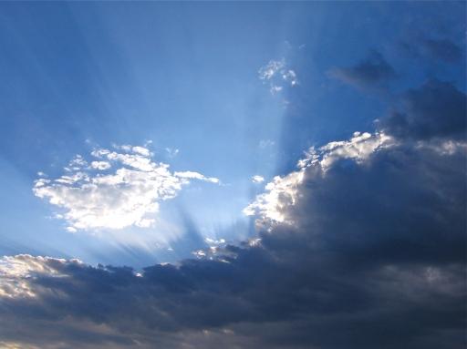 Sunbeams in a Wisconsin Sky Photo by: c.b.w. 2005