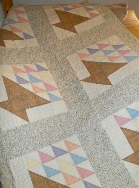 Grandma's Handiwork: Flower Basket Quilt
