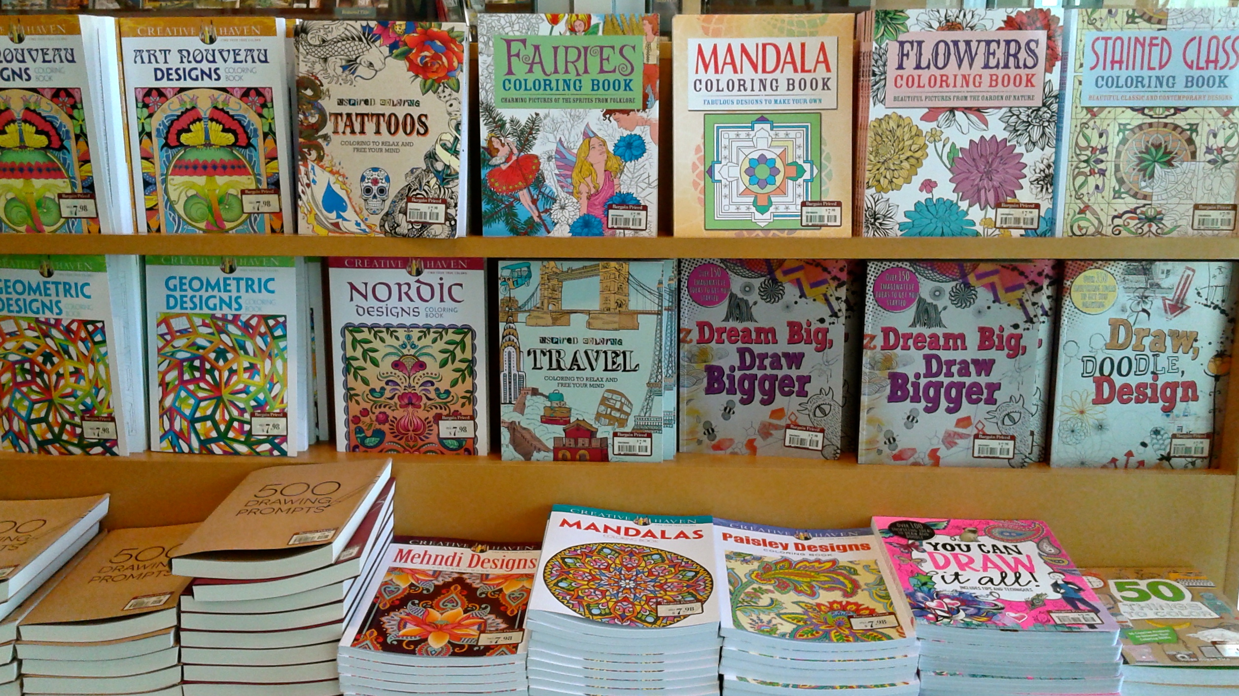 The Coloring Book Display At My Local Barnes Noble Ive Got Eye On Travel That Looks Like Fun