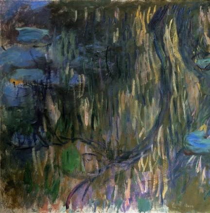 water-lilies-reflections-of-weeping-willows-left-half-1919