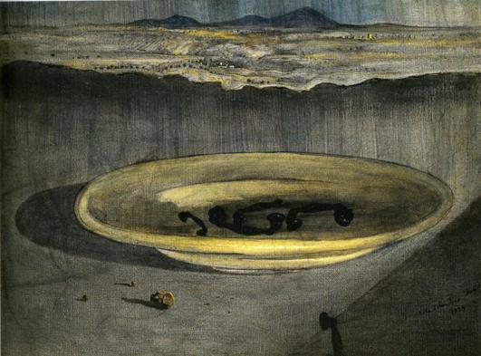 landscape-with-telephones-on-a-plate