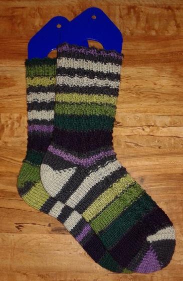 Horizontal Rib Socks_Purple (1)