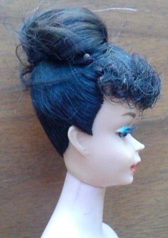 Ponytail 5 Barbie Head Side